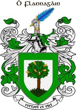 O'FLANAGAN family crest