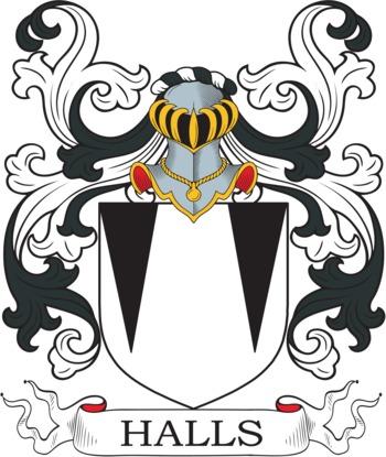 HALLS family crest